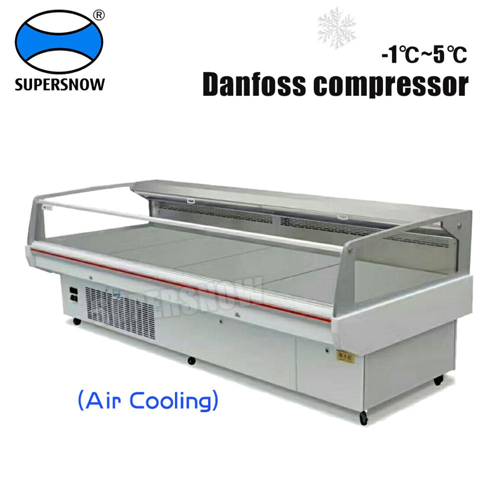 Strong fan cooling supermarket open display fridge with SS inside