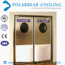 Crashworthy swing free door used in clean room, garbage room, etc