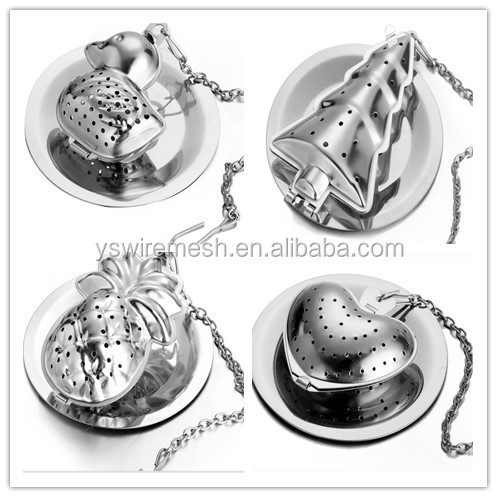 Gifts with stainless strainer steeper for steeping loose leaf tea herbal in cups teapots