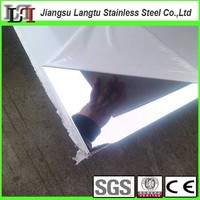 ANSI 304 black mirror finish stainless steel sheet with pvc coating