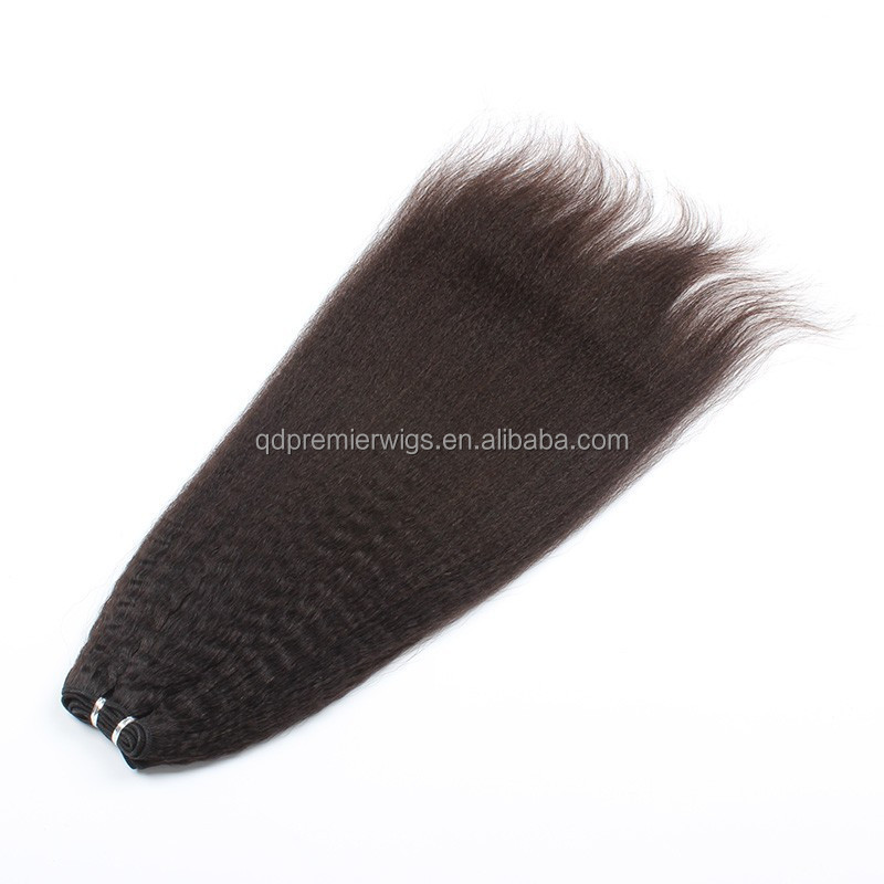 hot sale natural color kinky straight wholesale human hair extensions