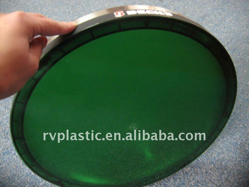 Plastic bar beer soft pvc serving tray