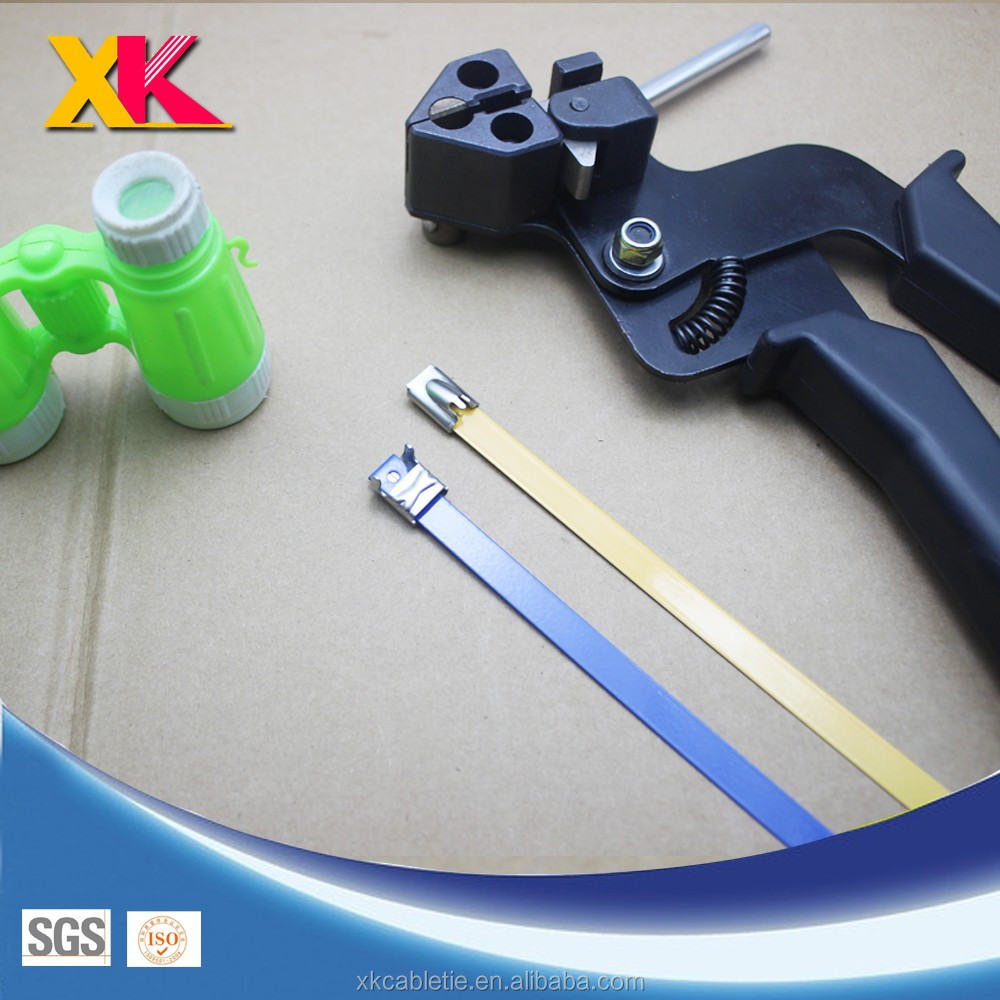 Self locking pvc/polyester coated 316 304 stainless steel ss metal cable tie manufacturer