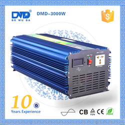 rechargeable storage battery DC 12V TO AC 220V 3000W pure sine wave solar energy inverter