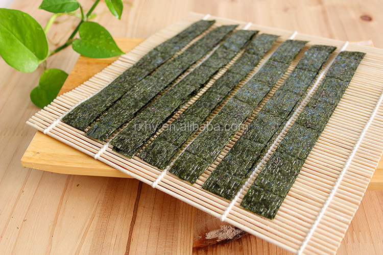 Seafood product OEM China 1/7 cutting organic roasted seaweed wholesale