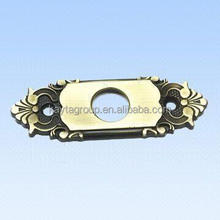 Die-cast Part, Made of Zinc Alloy, with Green Bronze-plated Surface Treatment, RoHS Compliant
