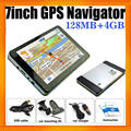 7inch Wince 6.0 Universal GPS Navigator Car with Built in 4GB and Free GPS Maps