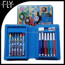 15pcs most popular fashion eco friendly school kit stationery set