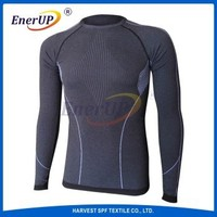 Wicking antibacterial mans outdoor underwear set long sleeve undershirt