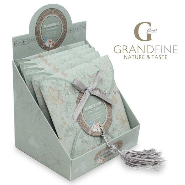 scented paper sachet with tassel fragrance set with display paper box