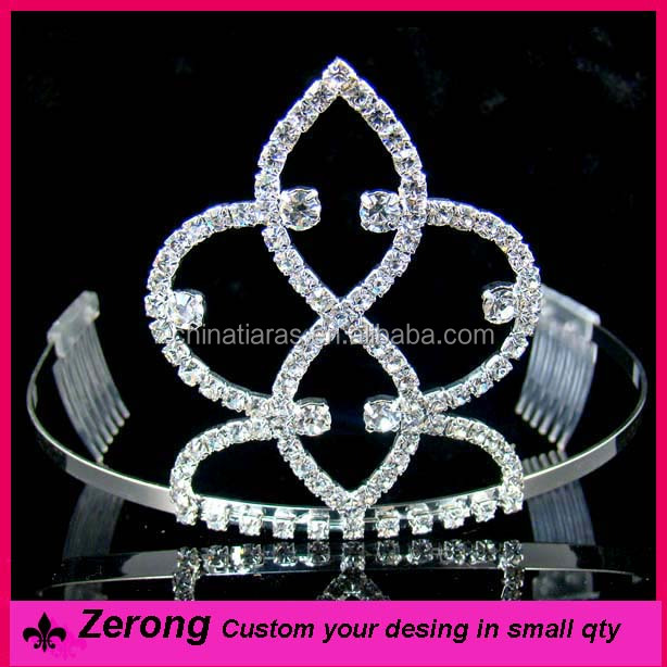 Wholesale cheap tiara comb silver crystal wedding tiara for brides