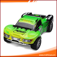 High speed 2.4G 1:18 scale 4WD electric plastic rc toy trucks for sale