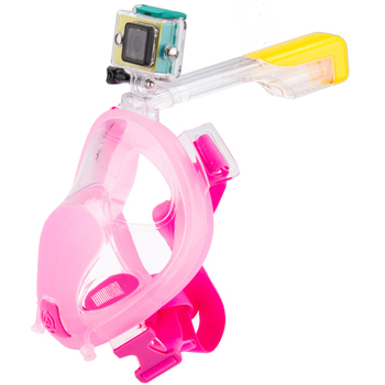 Snorkling 180 pink ce certification diving mask full snorkel mask, Kids snorkel mask ear protection
