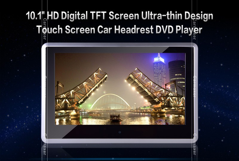 Super hot universal 10.1 inch/9 inch for honda headrest dvd player with touch button