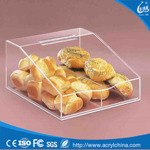 Clear acrylic bread box food grade acrylic acrylic containers for food XW-60