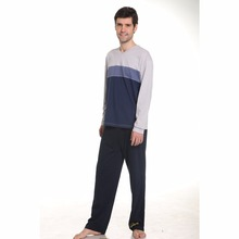 Wholesale price knitted breathable man family pajama sets