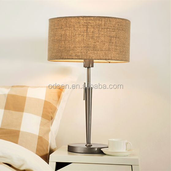White fabric bedroom table lamp chrome finish table lamps for living room