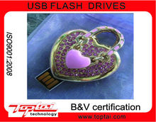 valentine's day promotion gift diamond heart usb 3.0 usb stick