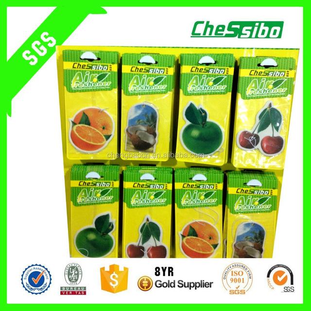 Custom shape car fragrance paper air freshener/ paper air freshener for car