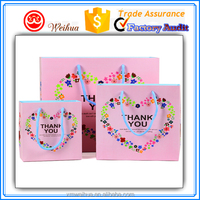 Grateful Thank you printed top end Pink gift paper bags for 2016 Thanksgiving Day