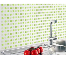 WholeSale Stock Small Order Greaseproof Easy Cleaning Sticker Paster Heat-resistant kitchen wall tile stickers
