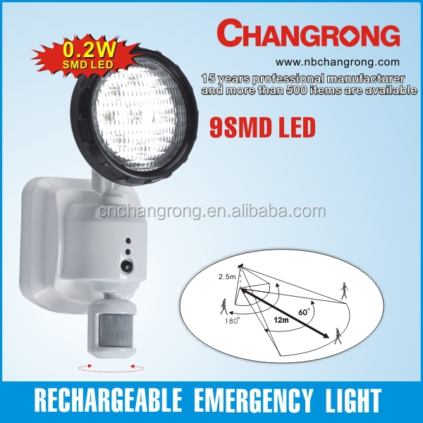 Changrong 9 pcs 0.2W SMD led rechargeable emergency channel light