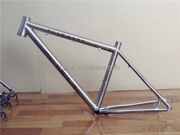 Wholesale price for gr9/Ti3al2.5v titanium road bike frame