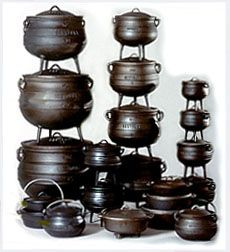 4# cast iron three legged potjie pot wholesale 3 legs casting iron pot