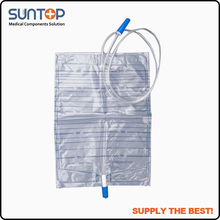 superseptember High Quality Medical Disposable Pull Push Valve Urine Bag With Outlet
