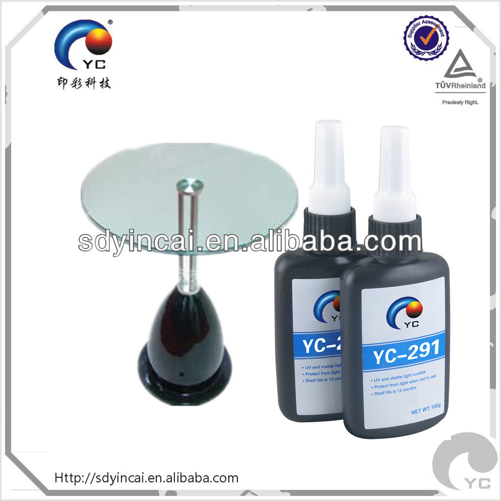 uv shadowless glue for glass to metal