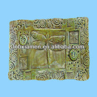 Dragonfly design ceramic sushi plate