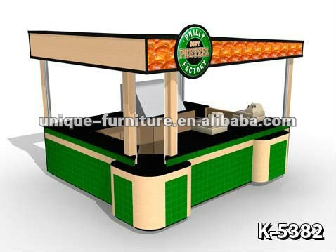 Green Pretzels Fast Food Mall Kiosk Design
