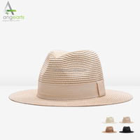 Wholesale lady beach hat fashion paper straw hats panama hat