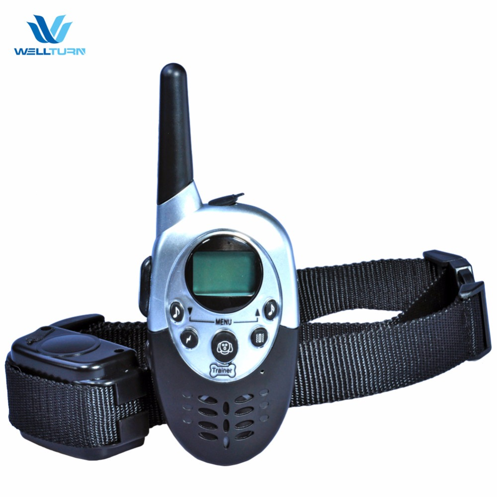 Pet E Trainer Dog Training Collar Products Electric Petrainer Remote Collar Shock Training Stop Barking Dogs No Bark Control