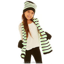 2018 factory direct 100% acrylic thinsulate cashmere knit scarf glove and hat set