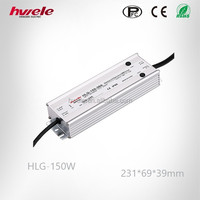 150W Waterproof LED driver supplier HLG-150W adjustable AC-DC 12V/24V/36V/42V/48V/54V with SGS,CE,ROHS,TUV,KC,CCC certification