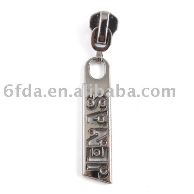 Metal long size #5 zipper puller