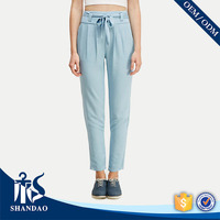 Guangzhou Shandao Summer New Listing Wholesale Straight Solid Color Cotton ladies fashion trousers design