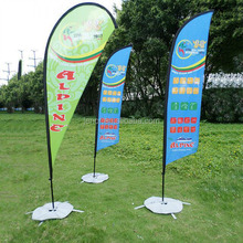 Outdoor Advertising Beach Flag Banner for Promotion