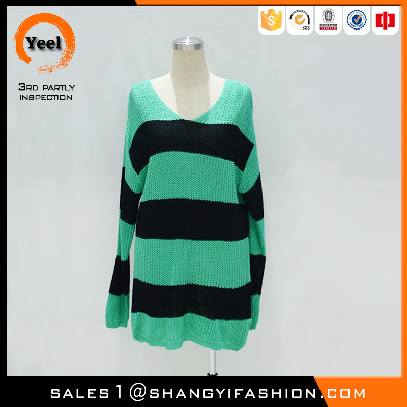 YEEL volume production luxury soft jacquard cotton ramie and cotton sweaters