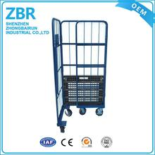 Multi-function roll cage durable logistics trolleys for industry