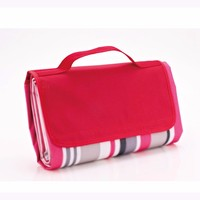 cheap custom polyester portable waterproof folding picnic blanket