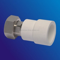 PPR pipe fittings plastic loose joint with copper