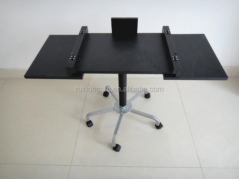 Black Foldable Rolling Desktop Computer Table Laptop Desk