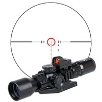 China 3-9x40 riflescope tactical hunting mini red dot sight and riflescope