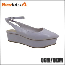 High quality fancy tall heels flat shoes women 2017 ladies