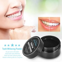 Teeth Whitening Powder Oral Activated Charcoal Teeth Stain Remover Powder Toothpaste Whitener Black W4476