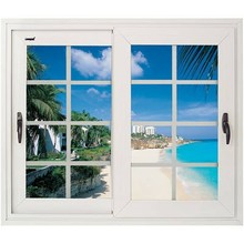 aluminum glass heat resistant sliding windows sound insulation windows for Villa and office