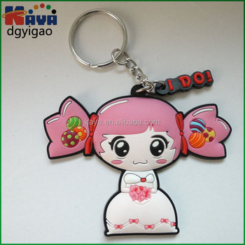 Handmading 3D embossed soft pvc custom keychain for business crafts
