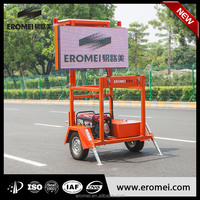 Professional mobile variable message sign trailer